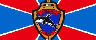 Флаг подразделения Косатка